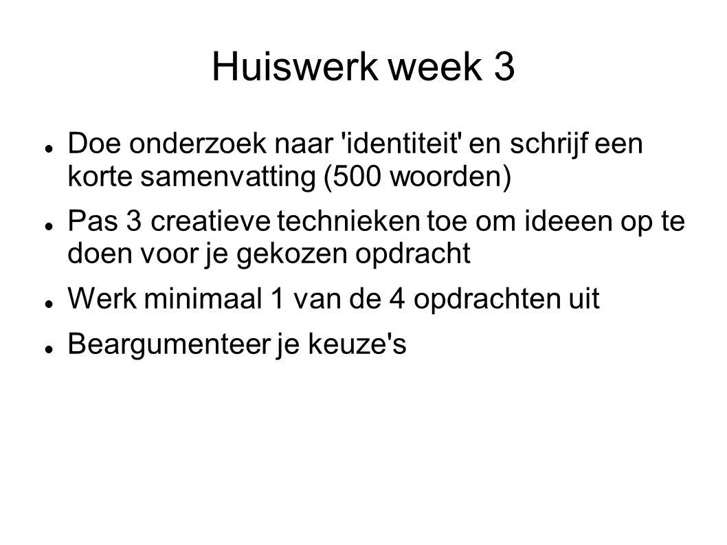 Huiswerk week 3 Doe onderzoek naar identiteit en schrijf een korte samenvatting (500 woorden)