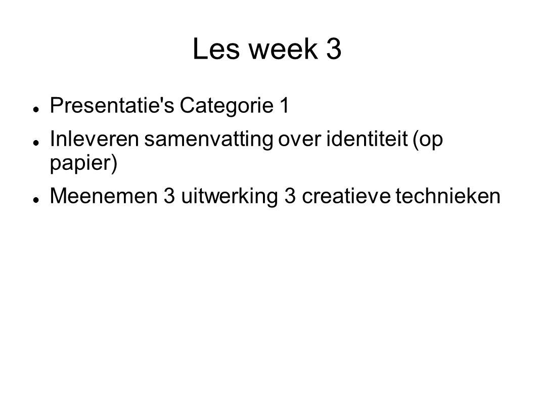 Les week 3 Presentatie s Categorie 1