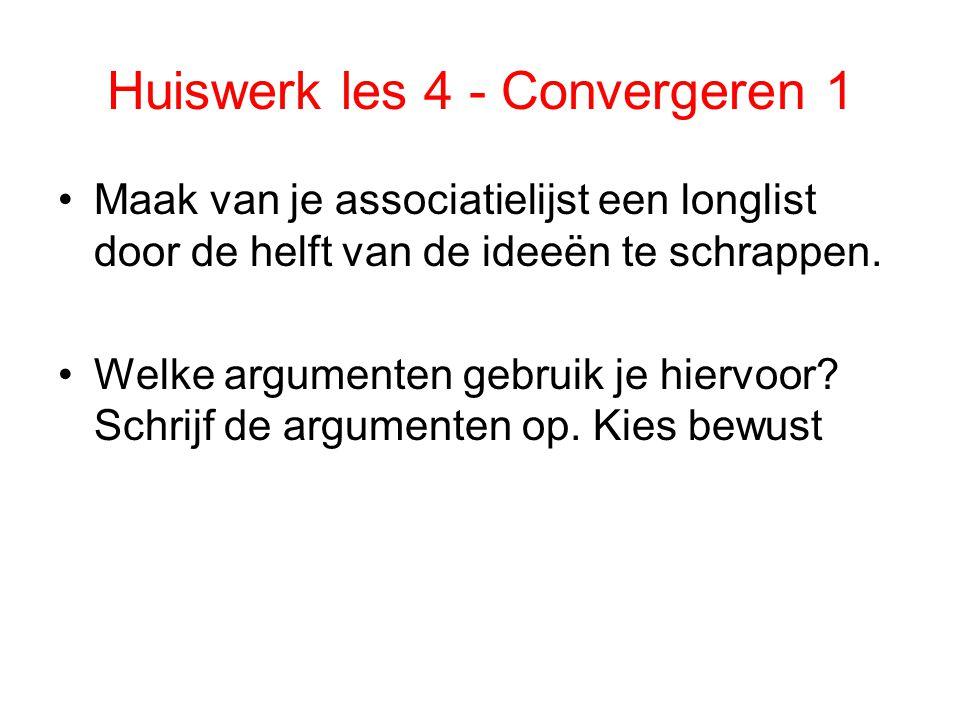 Huiswerk les 4 - Convergeren 1
