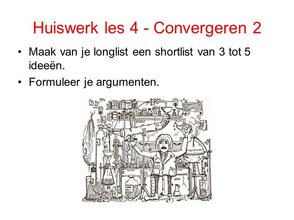 Huiswerk les 4 - Convergeren 2
