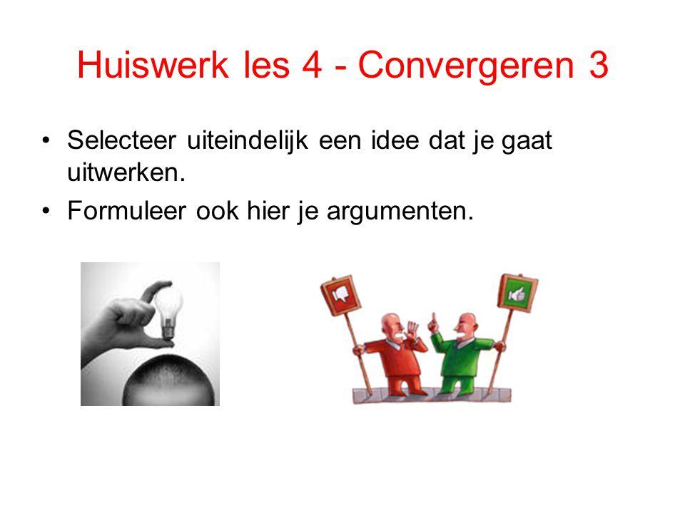 Huiswerk les 4 - Convergeren 3