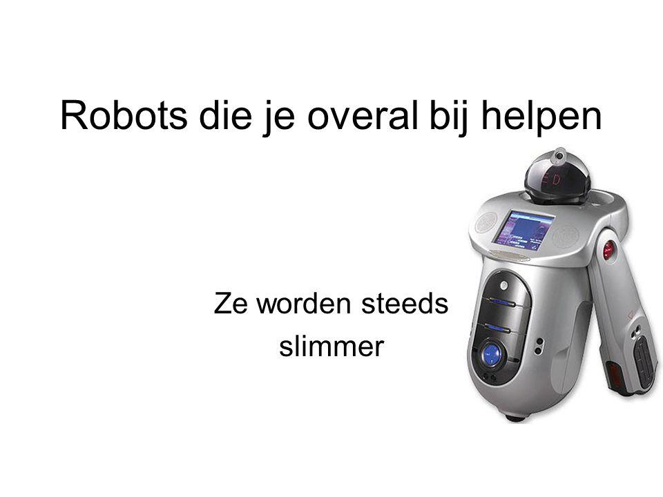 Robots die je overal bij helpen