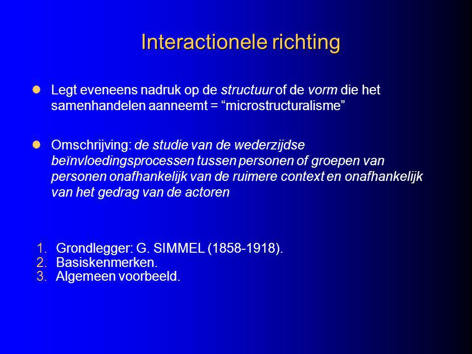 Interactionele richting