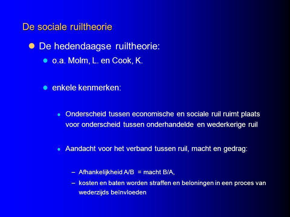 De sociale ruiltheorie