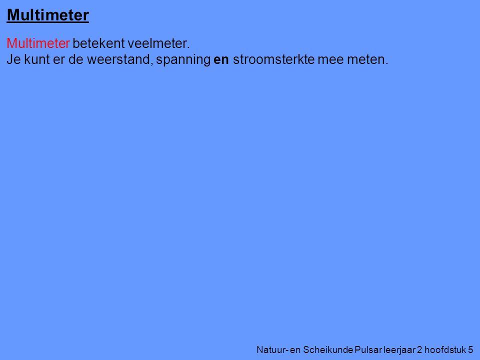 Multimeter Multimeter betekent veelmeter.