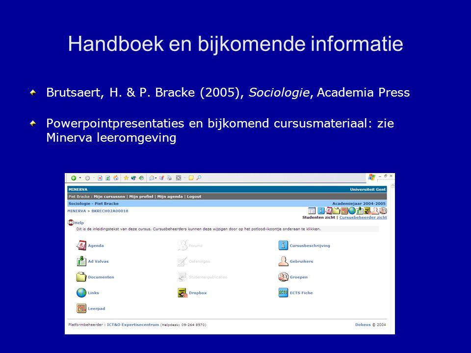 Handboek en bijkomende informatie