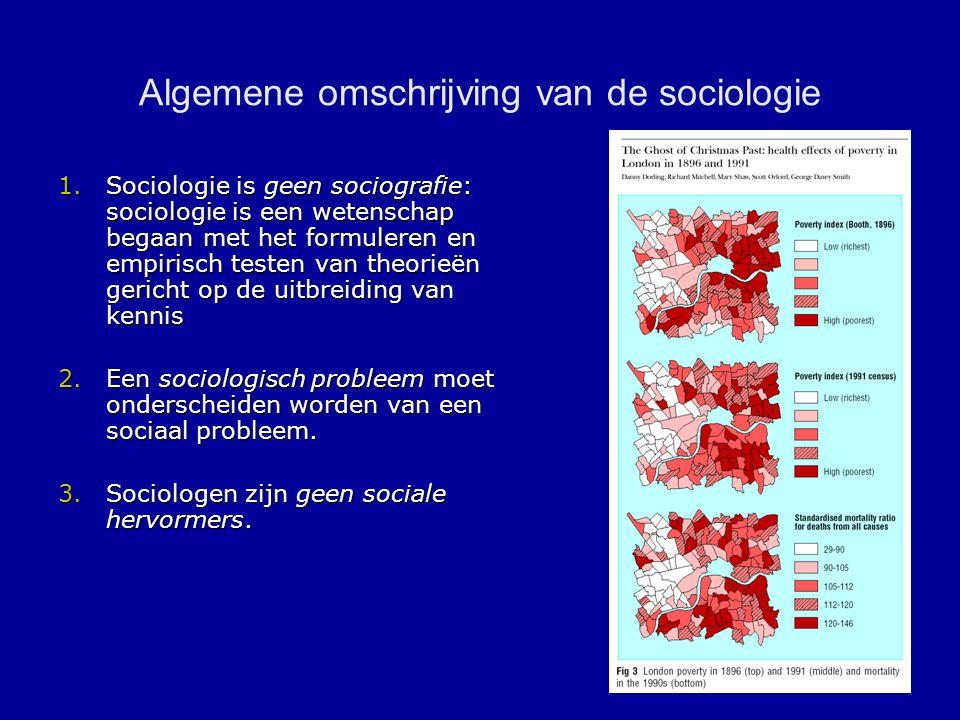 Algemene omschrijving van de sociologie
