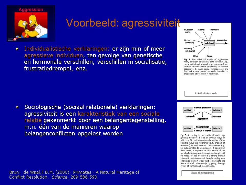Voorbeeld: agressiviteit