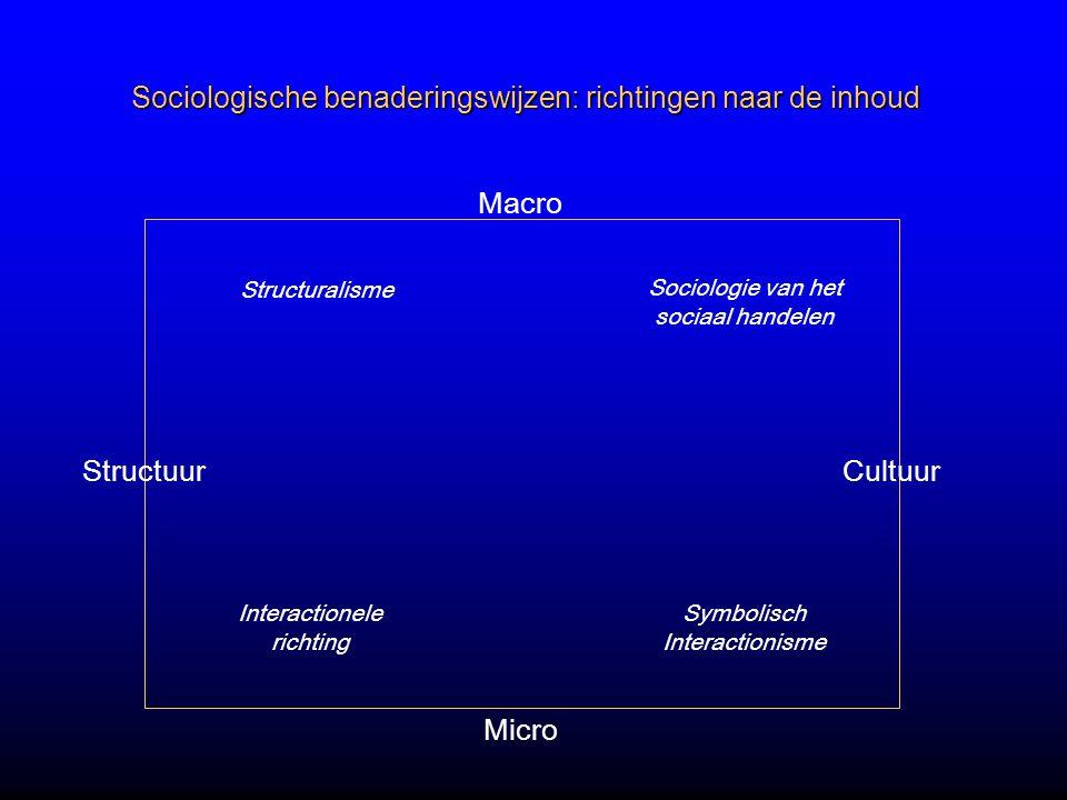 Sociologische benaderingswijzen: richtingen naar de inhoud