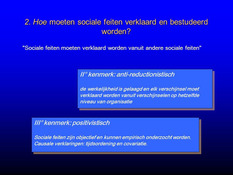2. Hoe moeten sociale feiten verklaard en bestudeerd worden