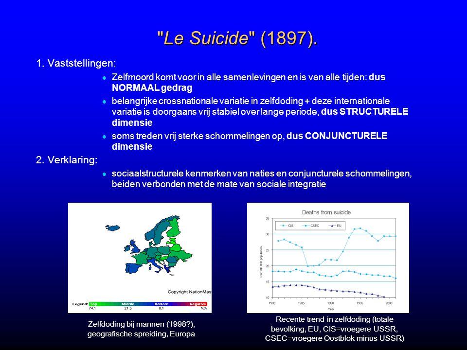 Zelfdoding bij mannen (1998 ), geografische spreiding, Europa