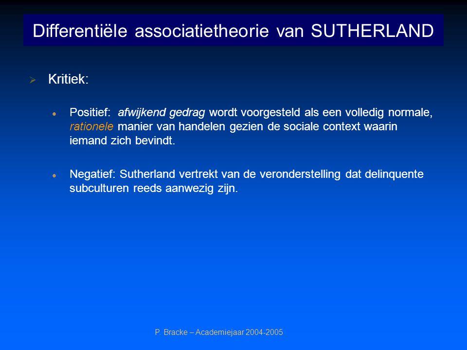 Differentiële associatietheorie van SUTHERLAND