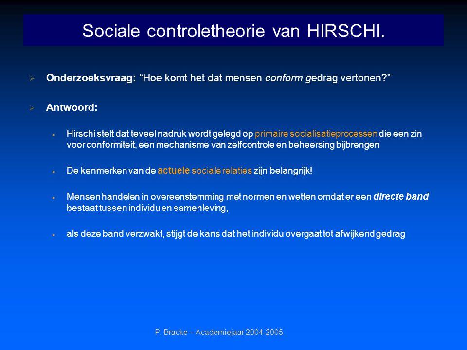 Sociale controletheorie van HIRSCHI.