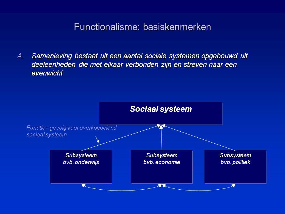 Functionalisme: basiskenmerken