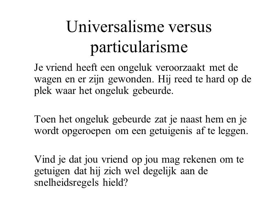 Universalisme versus particularisme