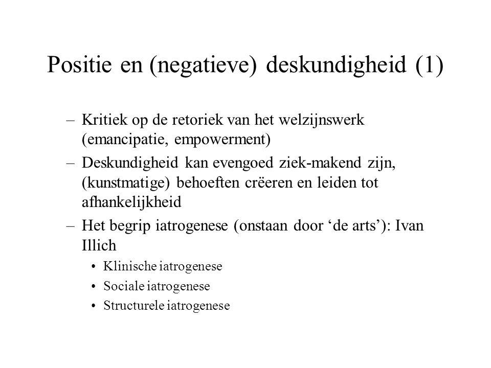 Positie en (negatieve) deskundigheid (1)