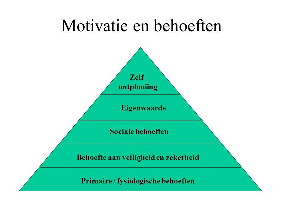 Motivatie en behoeften