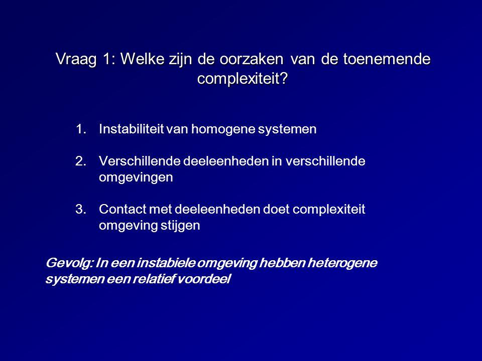 Vraag 1: Welke zijn de oorzaken van de toenemende complexiteit