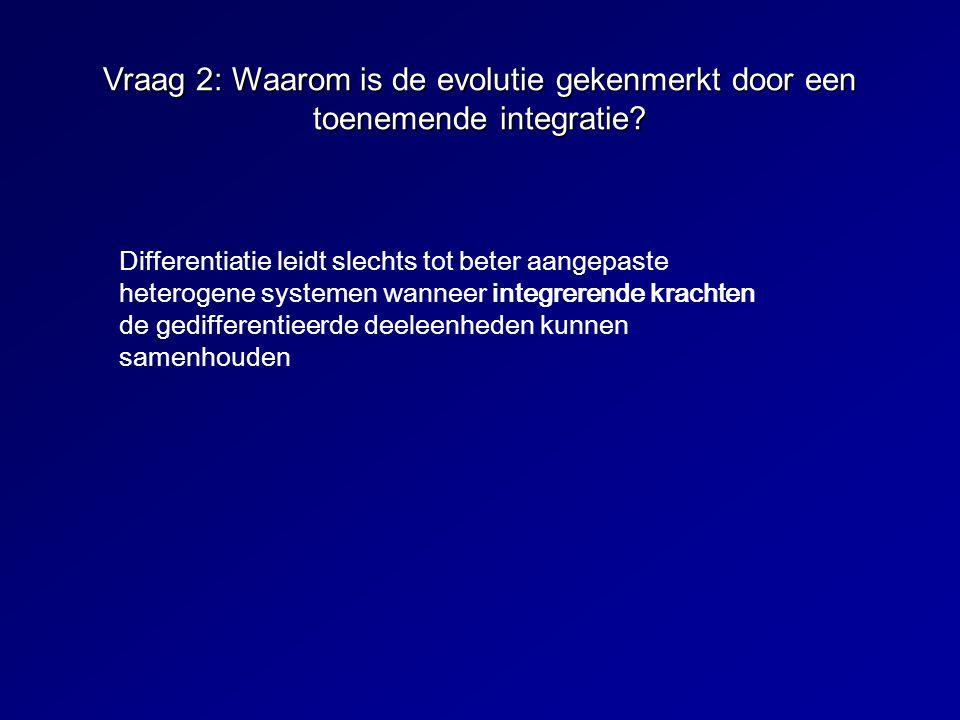 Vraag 2: Waarom is de evolutie gekenmerkt door een toenemende integratie