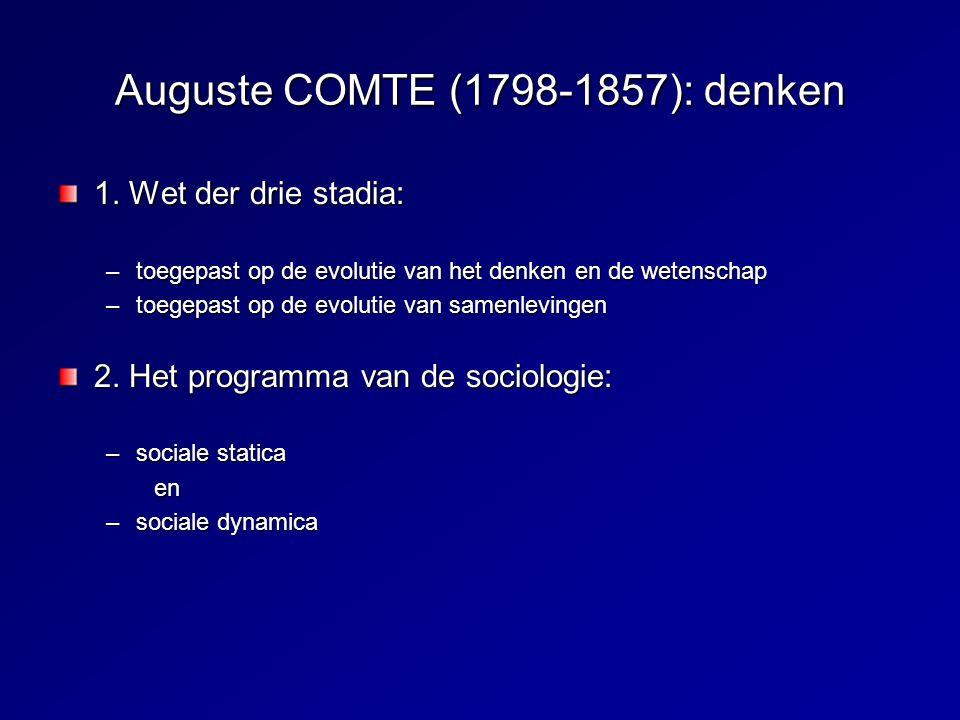 Auguste COMTE (1798-1857): denken