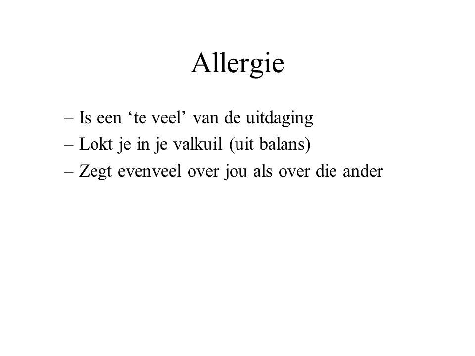 Allergie Is een 'te veel' van de uitdaging