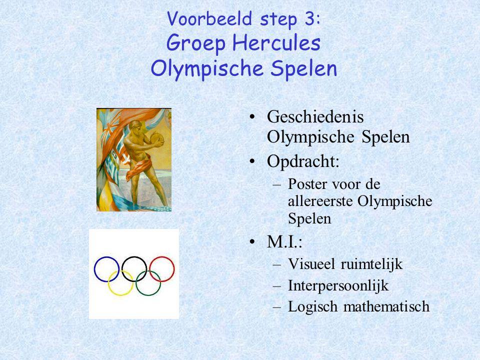 Voorbeeld step 3: Groep Hercules Olympische Spelen