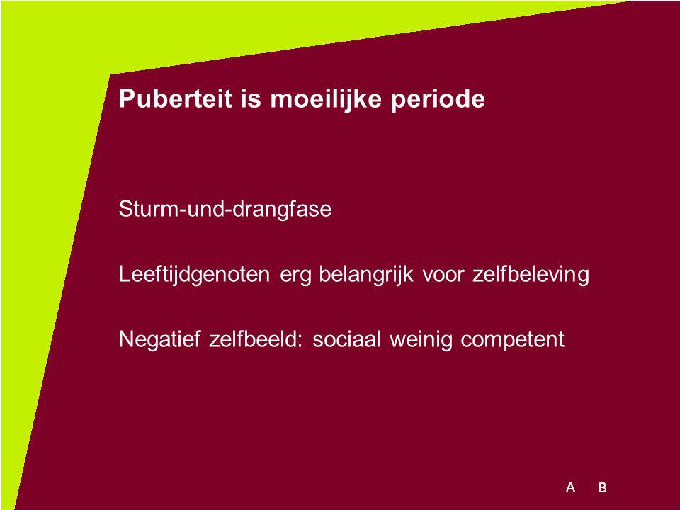 Puberteit is moeilijke periode