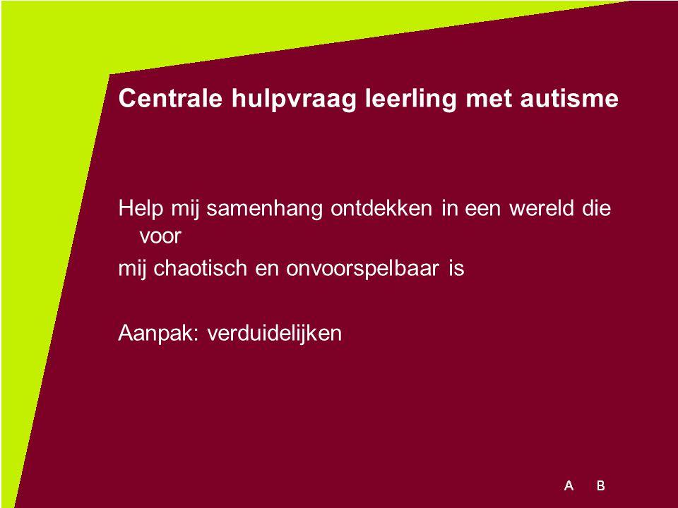 Centrale hulpvraag leerling met autisme