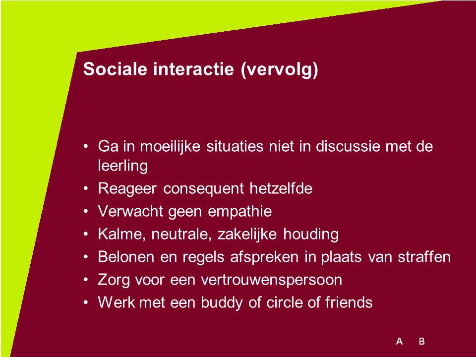 Sociale interactie (vervolg)