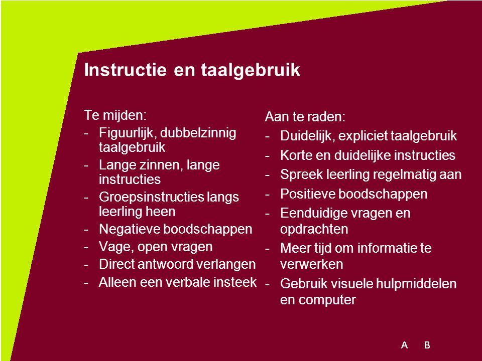Instructie en taalgebruik