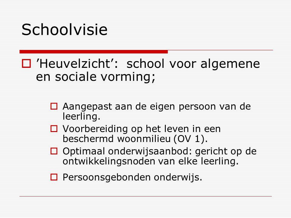Schoolvisie 'Heuvelzicht': school voor algemene en sociale vorming;