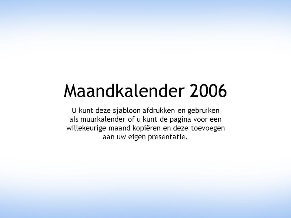 Maandkalender 2006