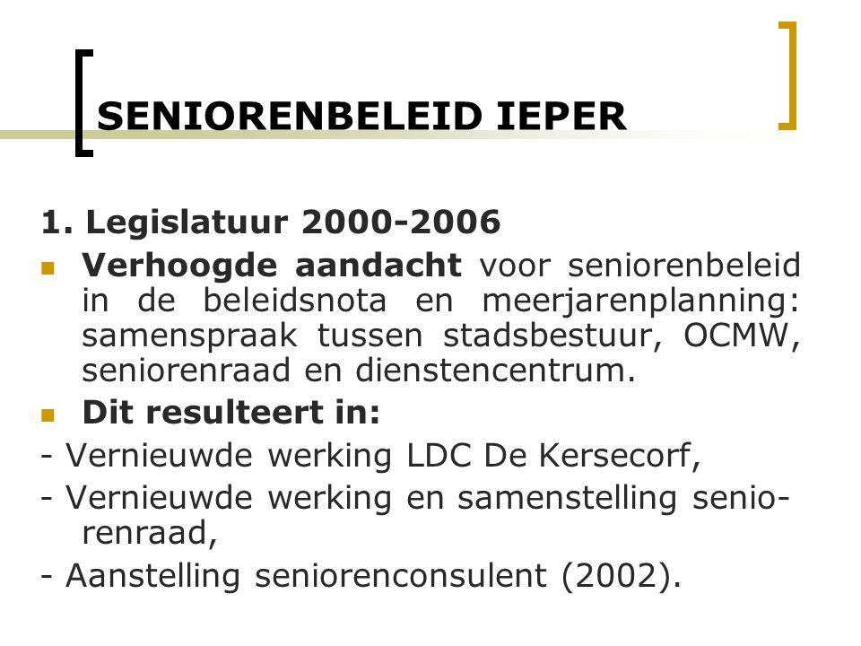 SENIORENBELEID IEPER 1. Legislatuur 2000-2006