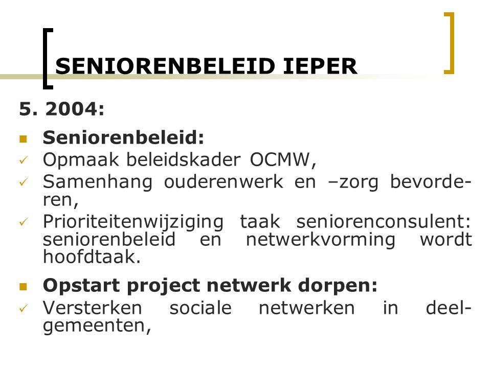 SENIORENBELEID IEPER 5. 2004: Seniorenbeleid: