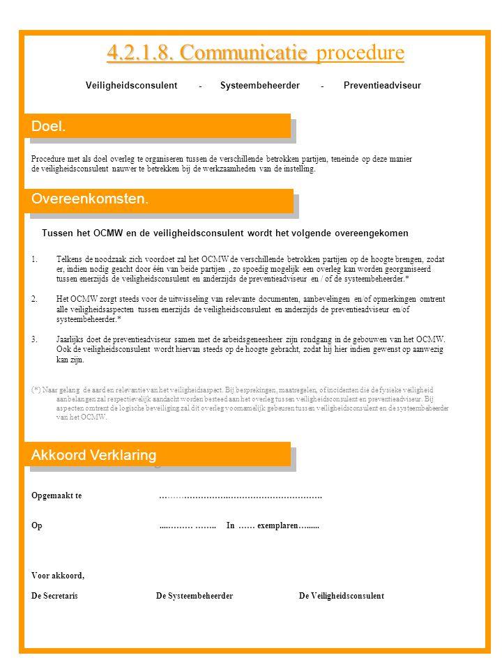 Veiligheidsconsulent - Systeembeheerder - Preventieadviseur