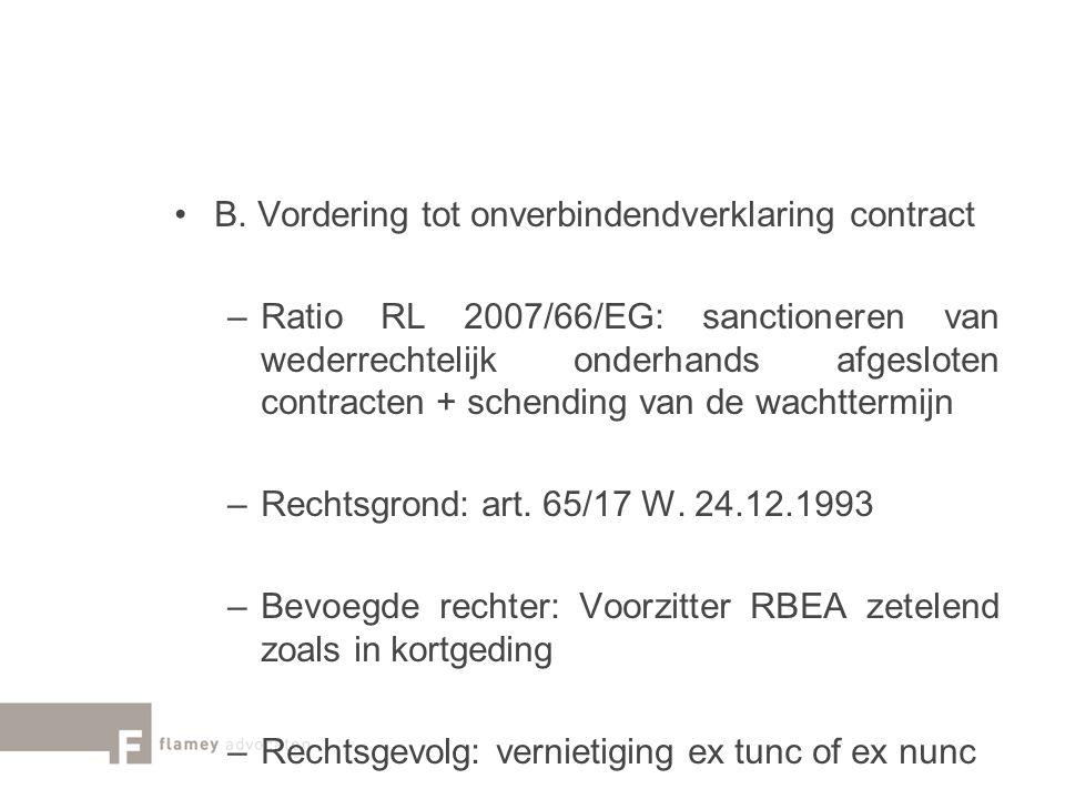 B. Vordering tot onverbindendverklaring contract