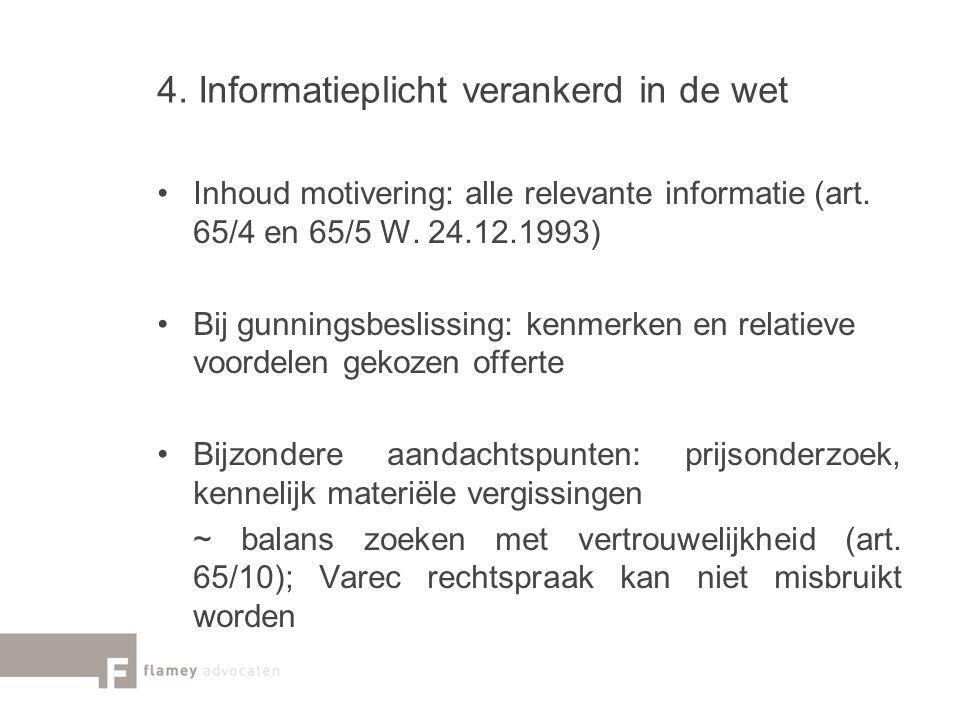 4. Informatieplicht verankerd in de wet