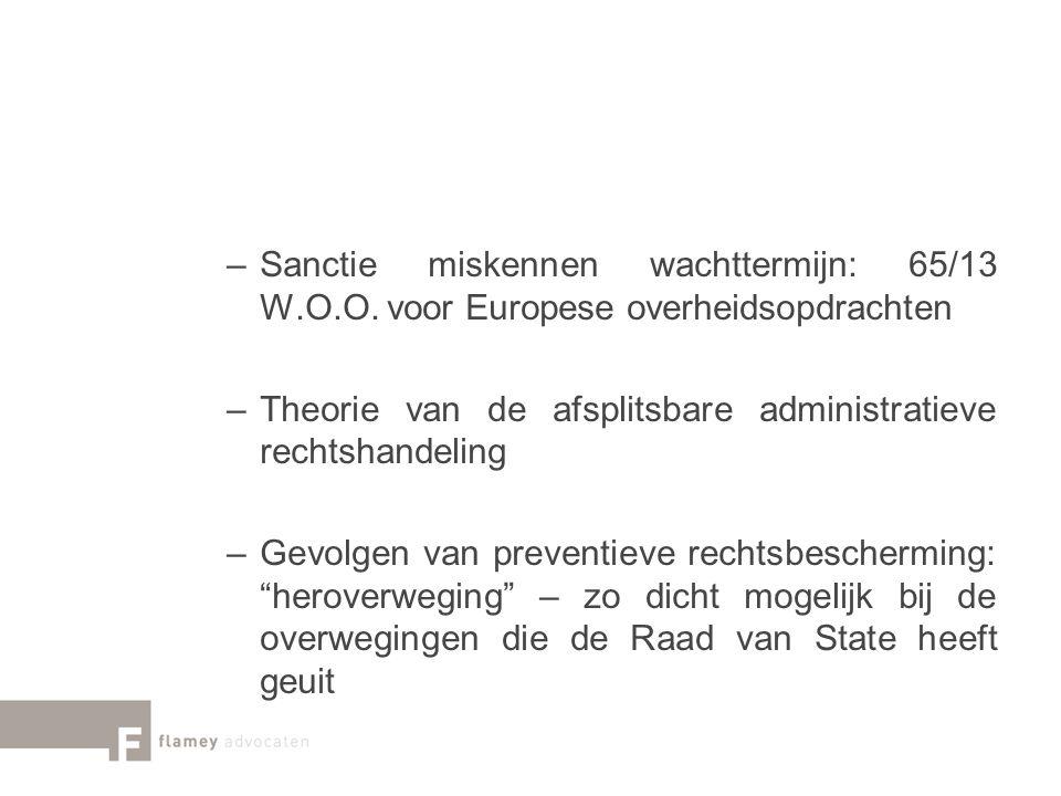Sanctie miskennen wachttermijn: 65/13 W. O. O