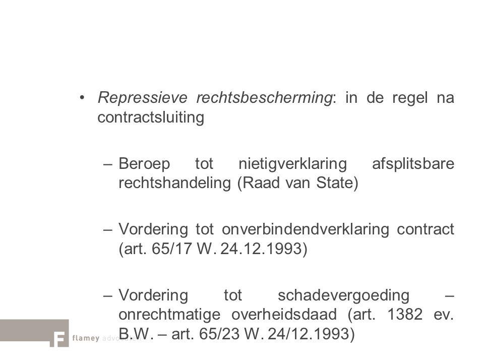 Repressieve rechtsbescherming: in de regel na contractsluiting