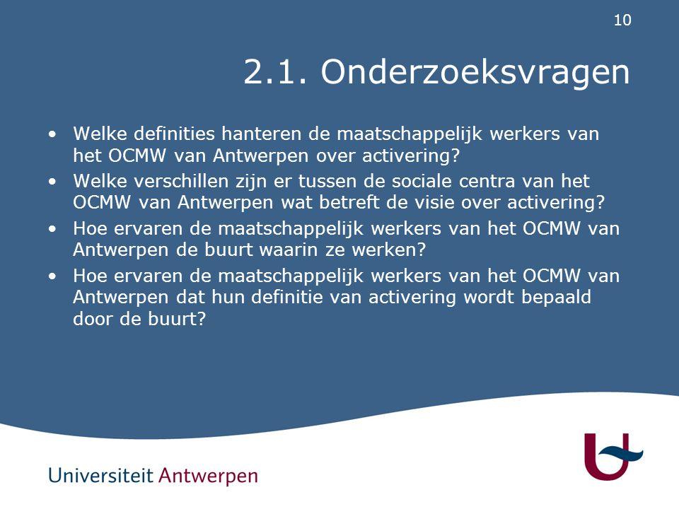 2.2. Het OCMW van Antwerpen als case
