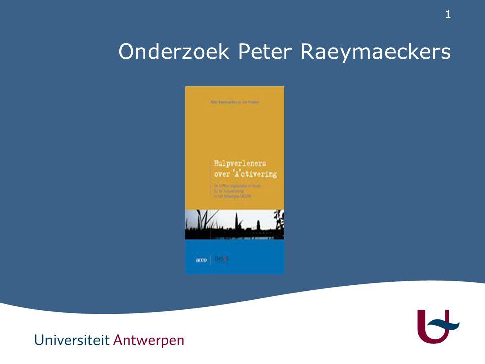 Structuur Definitie van activering OCMW van Antwerpen als case