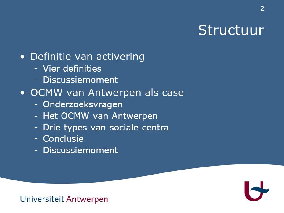 1. Activering Vier definities van activering