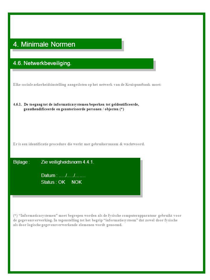 4. Minimale Normen 4.6. Netwerkbeveiliging.