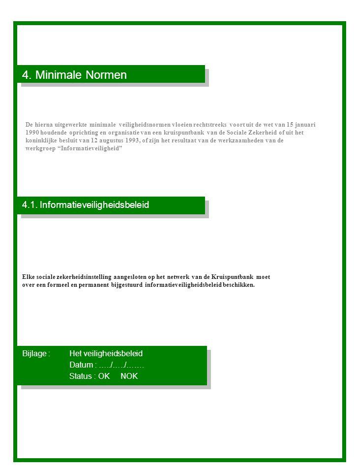 4. Minimale Normen 4.1. Informatieveiligheidsbeleid