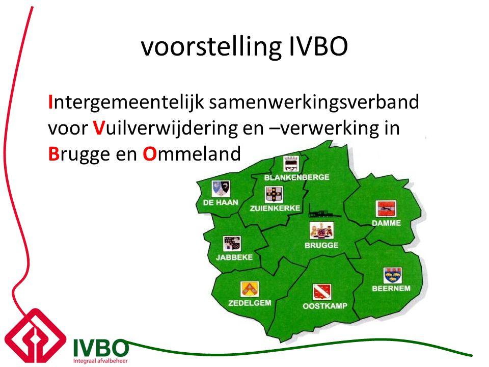voorstelling IVBO Intergemeentelijk samenwerkingsverband voor Vuilverwijdering en –verwerking in Brugge en Ommeland.