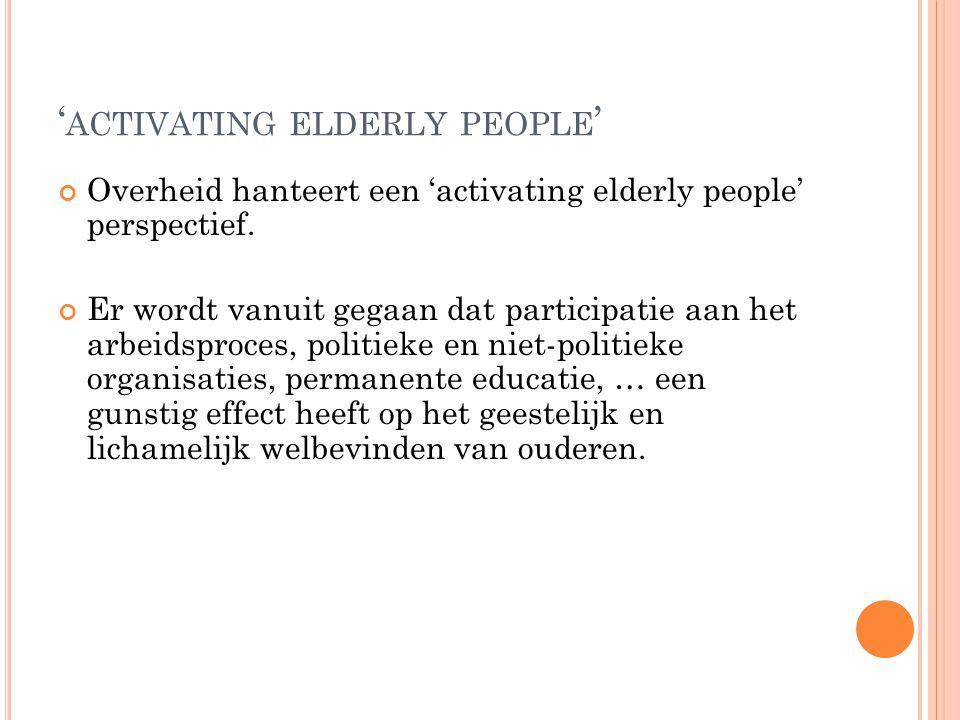 'activating elderly people'