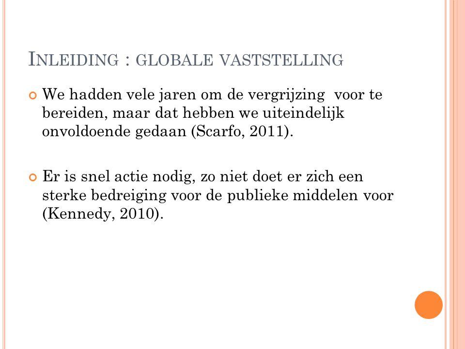 Inleiding : globale vaststelling