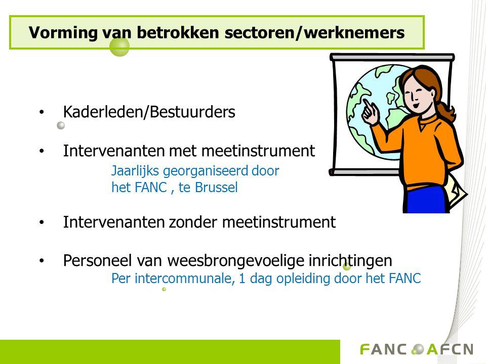Vorming van betrokken sectoren/werknemers