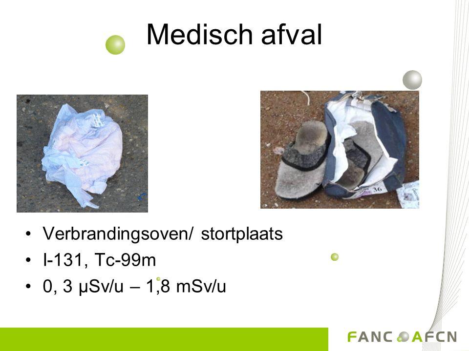 Medisch afval Verbrandingsoven/ stortplaats I-131, Tc-99m