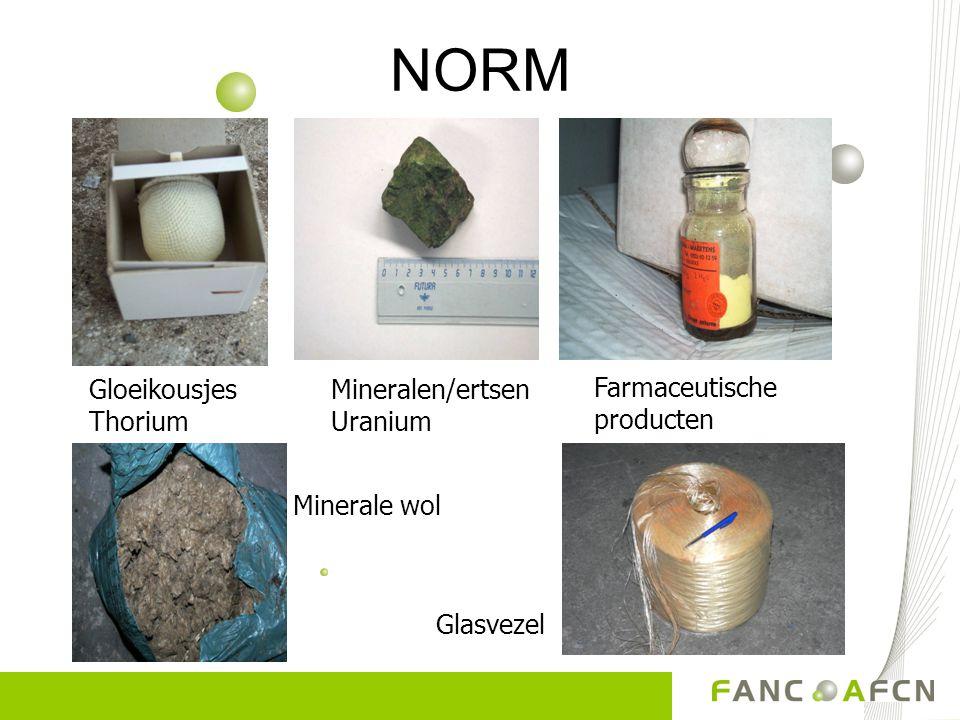 NORM Gloeikousjes Thorium Mineralen/ertsen Uranium